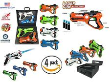 4 Pack Laser Tag Toys Set and Carrying Case for Kids-Multiplayer Dynasty Family