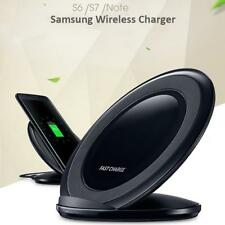 Fast Charging Qi Wireless Charger Pad Stand Dock For Samsung Galaxy S8 S7 Edge.