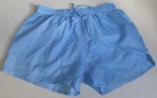 Short nylon bleu taille M, L, XL, lightly see-through