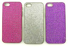 Fancy Diamante Hard Chrome Case Protective Cover For iPhone SE, 5s, 5