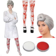 DEMON DENTIST COSTUME LAB COAT WIG FACE PAINT TIGHTS WORLD BOOK DAY FANCY DRESS