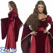 Womens Medieval Queen Cersei Costume Game of Thrones Ladies Fancy Dress Outfit