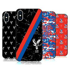 PERSONALIZZATA CRYSTAL PALACE FC 2017/18 COVER IN GEL NERA PER APPLE iPHONE