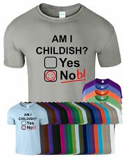 Am I Childish Smiley Mens T-Shirt Game Of Thrones Funny Rude Joke Nob Top Tee