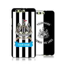 PERSONALIZZATA NEWCASTLE UNITED FC 2017/18 COVER IN GEL NERA PER HUAWEI TELEFONI