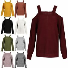 Ladies Jumper Womens Chunky Knitted Off the Shoulder Baggy Oversized Top Sweater