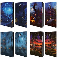 OFFICIAL GENO PEOPLES ART HALLOWEEN LEATHER BOOK CASE FOR SAMSUNG GALAXY TABLETS
