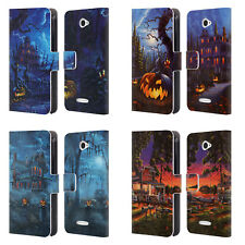 OFFICIAL GENO PEOPLES ART HALLOWEEN LEATHER BOOK WALLET CASE FOR SONY PHONES 2
