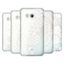 HEAD CASE DESIGNS WHITE LACE PRINTS HARD BACK CASE FOR HTC PHONES 1