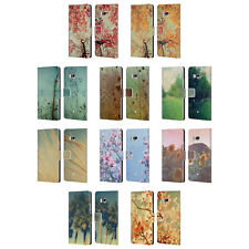 OFFICIAL OLIVIA JOY STCLAIRE NATURE LEATHER BOOK WALLET CASE FOR HTC PHONES 1