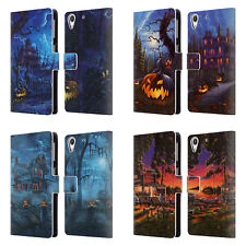 OFFICIAL GENO PEOPLES ART HALLOWEEN LEATHER BOOK WALLET CASE FOR HTC PHONES 2