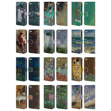 MASTERS COLLECTION PAINTINGS 2 LEATHER BOOK WALLET CASE FOR APPLE iPOD TOUCH MP3
