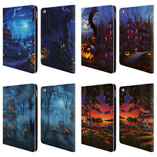 OFFICIAL GENO PEOPLES ART HALLOWEEN LEATHER BOOK WALLET CASE FOR APPLE iPAD