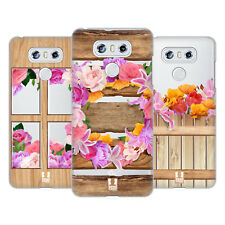 HEAD CASE DESIGNS WOOD AND FLORAL HARD BACK CASE FOR LG PHONES 1