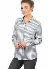 JACQUELINE de YONG by ONLY Mia Damen Bluse Long Loose Fit Streifen-Optik Neu
