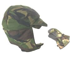 Trapper Hat DPM Camo Fur Lined Winter Cold Weather + Matching Mittens Gloves VGC