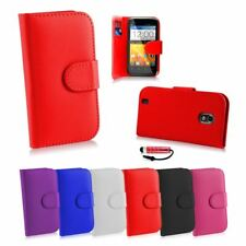 Book Wallet Synthetic PU Leather Flip Case Cover Card Slot - ZTE Blade 3