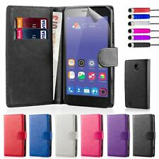 Book Wallet Synthetic PU Leather Flip Case Cover Card Slot - ZTE Blade L3