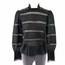 ISABEL MARANT ÉTOILE Tunica Blusa tg. F 36 D 34 pizzo Biesen NERO NP 490 NUOVO