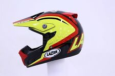 LAZER SMX NATIONS Mx Casco Negro Amarillo Rot GR XS XL CROSS para motocicleta