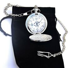 MASONIC GIFT POCKET WATCH SUPERB DETAIL WITH OR WITHOUT ENGRAVING IN GOLD/SILVER