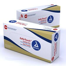 Box of 100 Latex White Powder Free Medical Surgical Lab Disposable Gloves M L XL