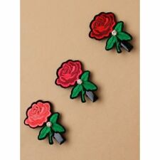 brodé rose PATCH AVEC STRASS STRASS CHEVEUX BEC , rouge, rose, fuchsia