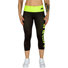 Venum Power Ladies MMA Crop 3/4 Leggings Gym Sports Pants Womens Spats