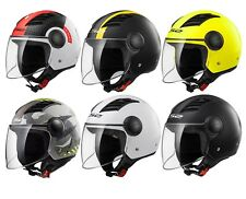 LS2 OF562 AIRFLOW Abierto Moto Scooter Casco BASCULANTE Visera