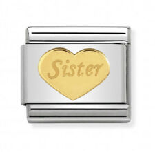 Nomination Italy Nominations Gold Family Sister Heart Charm Tool Gift Valentine
