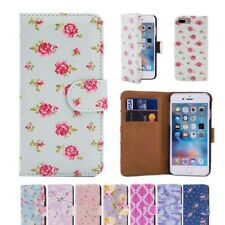 Cuero Artificial Diseño Floral Libro Cartera Funda carcasa para iPhone de Apple
