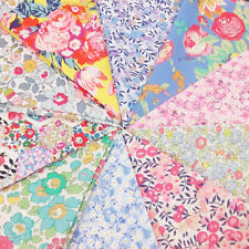 Liberty Garden Fabric Pack / quilting patchwork floral yellow pink tana lawn