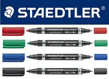 STAEDTLER Twin Tip Marqueur permanent Stylo - Lumocolor duo Fin & Med pointe