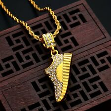 Yeezy 350 Shoe Pendant & Necklace | Custom Iced out | Gold Chain | Free Sticker