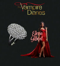 The Vampire Diaries Elena Gilbert Multi Diamond Crystal Stone Silver Plated Ring