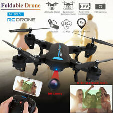 A6 Foldable Drone 2MP Wide Angle Camera Wifi FPV RC Quadcopter Helicopter Toy CO