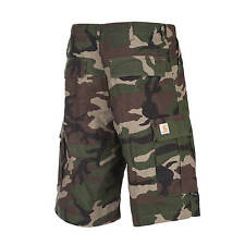 CARHARTT CARGO SHORT Camouflage Vert - coupe ample Ripstop Cargo pour hommes