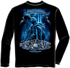 Marine Corps, USMC Long Sleeve Usmc Never Forget Black