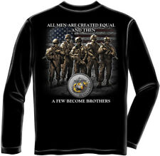 Marine Corps, USMC Long Sleeve Usmc Brotherhood Black