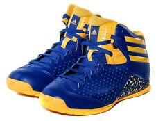 ADIDAS BOYS NXT LVL SPD 4 NBA K BASKETBALL SHOES TRAINERS BLUE/GOLD UK 10-5.5