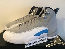 NIKE AIR JORDAN XII 12 RETRO BG GS UK 3 WOLF GREY UNC UNIVERSITY BLUE 153265-007