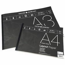 Daler Rowney - LAYOUT imbottitura in carta - 45gsm - 80 pages - A3/A4 -