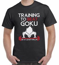 PALESTRA to Beat Goku DIVERTENTE DRAGON BALL Z ispirato MAGLIETTA T-SHIRT