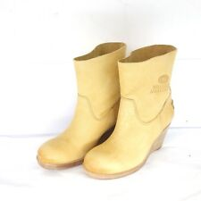 Shabbies Amsterdam Boots 39 40 41 pelle Stivaletti Zeppe Scarpe Donna Np 319