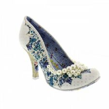 Irregular Choice Perlado Girly - Blanco / Azul Mujer Tacones