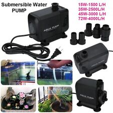 Aqua 1500-4000L/H Submersible Aquarium Fountain Pond Marine Water Pump Fish Tank