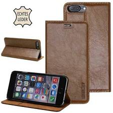 Cuero natural Funda para Apple iPhone / Samsung Galaxy Estuche protectora marrón