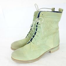 Shoot Chaussures à lacets bottes chaussures bottes cuir daim vert NP 109 NEUF
