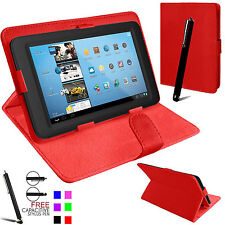Universal Plegable Folio Libro De Cuero Funda Soporte para Android Tablet PC 7""