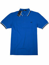 Fred Perry Polo Shirt Poloshirt M3600 E43 Blau / Weiß / Navy #7338